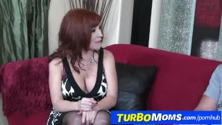 Redhead milf Brittany O Connell sexy stockings and fucking