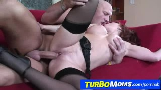 Stockings and o redhead milf brittany connell sexy fucking boobs turbomoms
