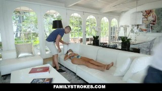 FamilyStrokes - Stepsis Mistakes Stepbro For Boyfriend Skirt table