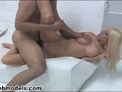 Big Tits Blonde Whore KENZI MARIE Fucked by Huge Cock for Facial Reward! A+