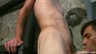 Great blowob hot twinks oral sex