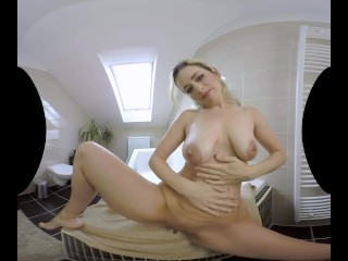 Jenny Ried showers herself to have clean sex with you