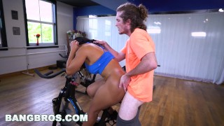 BANGBROS - Curvy Latina Rose Monroe Fucked in Spin Class by Brick Danger Harper venezuelan