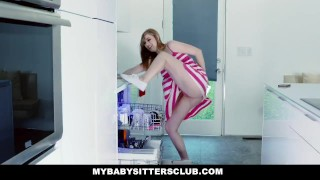 By mybabysittersclub sink stuck in babysitter fucked boss bigcock petite