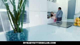 Babysitter sink by boss stuck in mybabysittersclub fucked hardcore teen