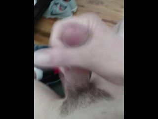 Thinking of mom while rubbing my Dick and cumming