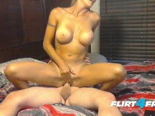 Tonik Fires a Big Load of Cum on Kim's Squirting Pussy