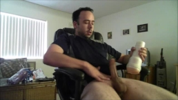 Dark Soccer Player With Large Dick Gives A Wild Hard Fucking To Fleshlight