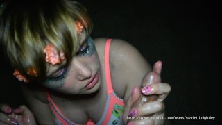 BETRAYED!!-Cute Engaged Teen Gets Cumshot By Stranger After EDC!!  point of view facial cumshot cheating cuckold young green eyes slut teenager facial big boobs barely legal glitter goddess cheating fiance fiance edc glitter