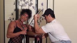 FBB Latia Del Riviero Armwrestles The Italian Stalion