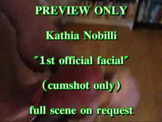 PREVIEW ONLY: Kathia Nobilli 's 1st official facial (cumshot only)
