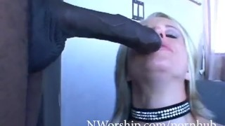 Blonde cock milf fuck anal with big big boobs loves slut black with blonde cock