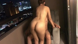 GF gets fucked in Hotel Balcony