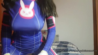 PAWG D.Va Overwatch cosplay geek girl. Made in Canarias