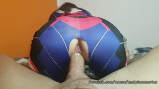 PAWG D.Va Overwatch cosplay geek girl. Made in Canarias porno