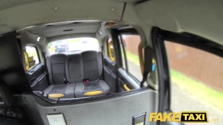 Fake Taxi Fetish Queen in black leather gets anal creampie  ass fuck piercings lingerie outside oral redhead goth leather public punk car rough anal dogging alexxa faketaxi