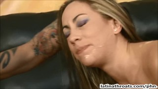 Petite Latina Amy Valdes throat pumped and ass fucked