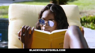 BlackValleyGirls- Flawless Ebony Babe Boned by Obsessed Pool Boy Work dick