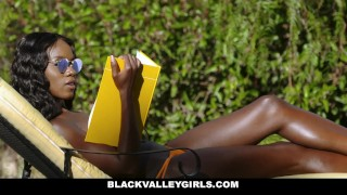 BlackValleyGirls- Flawless Ebony Babe Boned by Obsessed Pool Boy Familystrokes cowgirl