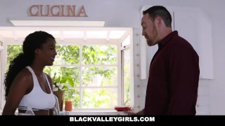BlackValleyGirls- Preppy Black Teen Seduced By Stepdad Amateur sucking
