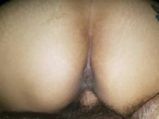 Her pussy swallows my dick and sucks the cum right out