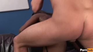 Office  perks scene interracial missionary