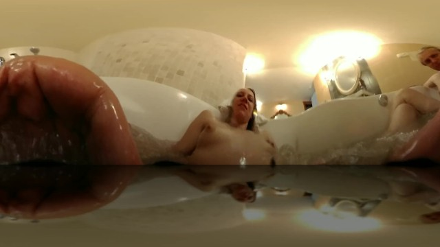 Jacuzzy jet orgasm - Girl masturbating with hot tube jets vr 360 intimate experience