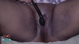 Big Juicy Wet Clit Playing With New Toy