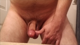JeromeKox Standing While Jerking Off, Close Up Quickie Catching My Cumload!