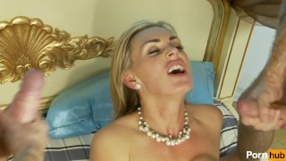 Maid service scene  shaved busty