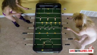 Strip Foosball has never looked so damn Hot Small dick