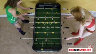 Strip Foosball has never looked so damn Hot On vibrator