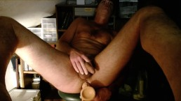 Total Fucking from Huge Dildo inside My Ass