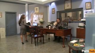 office perks 2 - Scene 2 Stocking shaved
