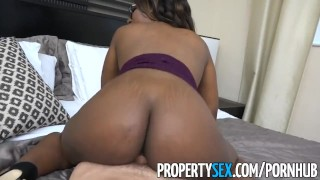Estate real propertysex client hot black surprises agent smoking ebony sex