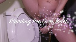 Standing Pee Over Toilet