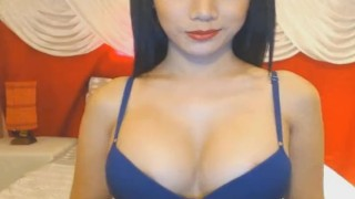 Horny Big Tits Shemale Babe Masturbating On Cam