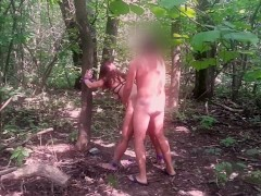 Marta tied, punished and hard Fucked In The Forest by the pedestrian
