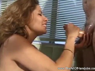 Latina Housewife Gives Nasty Handjob