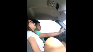 Dirty Wife CHEATS on husband WHILE DRIVING to see him with Best Friend Girl spit