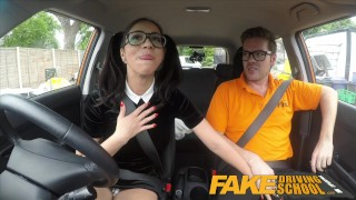 Sucks fake school sexy lessons driving big learner cock for spanish sex sex
