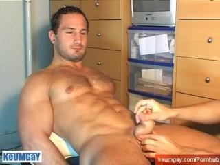 Famous star tv: Sylvain pottard's cock massage ! (straight guy seduced)