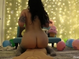 Emilylynne dildo riding at birthday