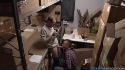 Sean Taylor gives a handjob to horny pervert Raiden Hendrix