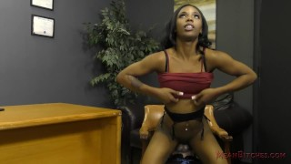 Ebony Secretary Sarah Banks Makes Her White Boss Lick Her Asshole - Femdom  ass worship black domme facesitting femdom black meanbitches kink office secretary butt foot worship female domination ass licking ebony dominatrix lick her asshole