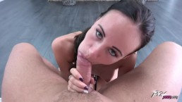 Dude use all the power to satisfy brunette wild cat Evelyn Neill