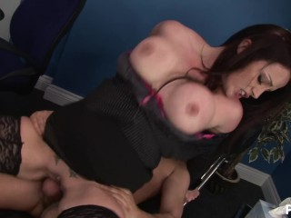 Tight Tyler Stevenz gets boned by two cock