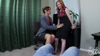 Teachers Fuck & Suck Lucky Student in Detention Syren De Mer & Lady Fyre Pussy pierced