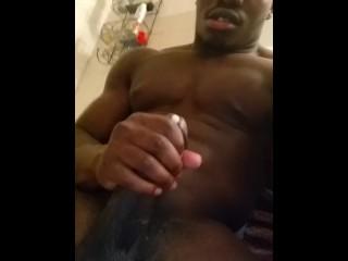 Sexy stud Jack's off at night