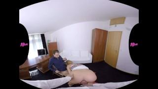 18VR Chrissy Fox Gets Job Via Threesome Fuck VR Porn Sucking asstraffic